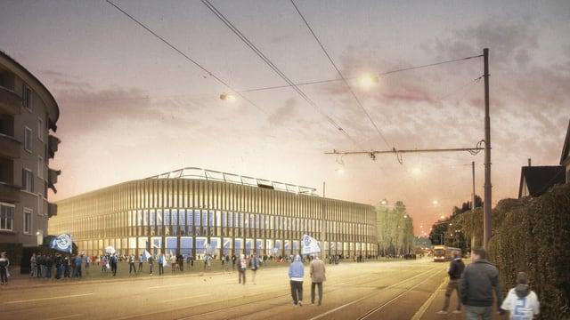 Visualisierung des neuen Zürcher Fussball-Stadions