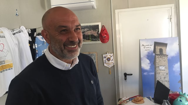 Sergio Pirozzi in seinem Büro.