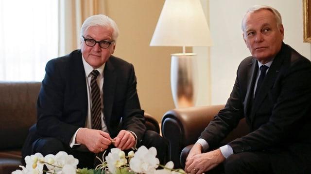 Frank Walter Steinmeier e Jean-Marc Ayrault.
