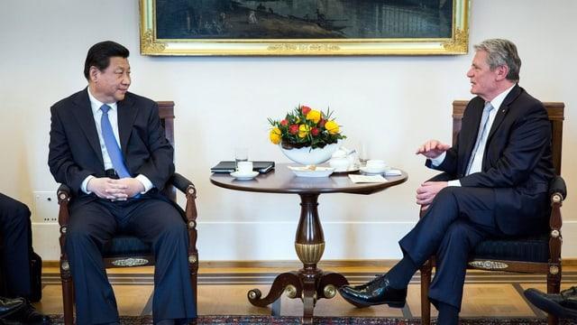Joachim Gauck und Xi Jinping