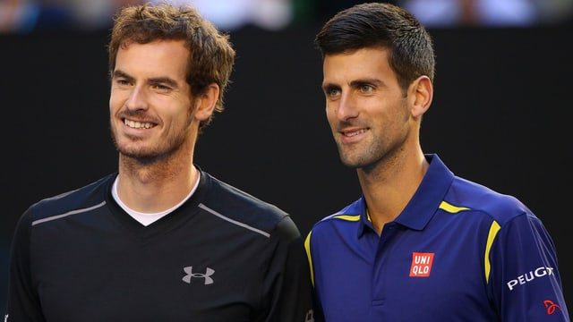 Andy Murray und Novak Djokovic.