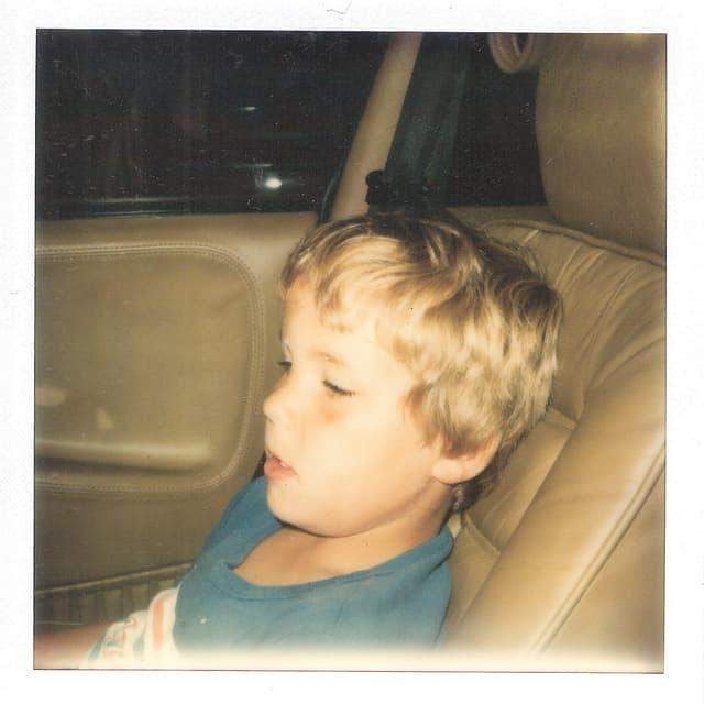 Der 12-jährige Arno Frank im «Fluchtauto»