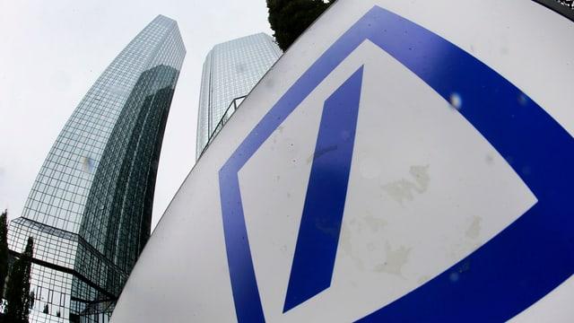 Logo der Deutschen Bank.