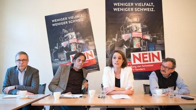 "Il comité  ""Na a la fin d'emissiun"" ha lantscha oz il cumbat da votaziuns encunter l'iniziativa No Billag a Berna."