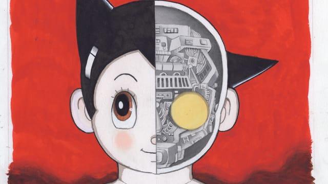 Eine Comiczeichnung, die einen Kopf zeigt.