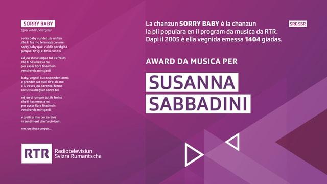 L'award per Sorry Baby