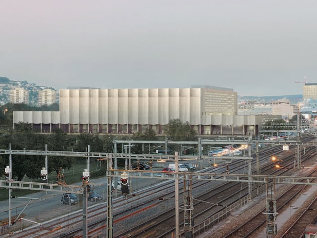 Das neue Stadion wird direkt neben dem Bahnhof Altstetten gebaut.