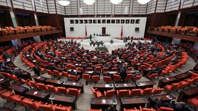 Sala dal parlament tirc ad Ancara.