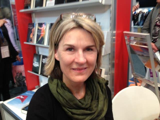Jutta Eicke auf der Buchmesse.
