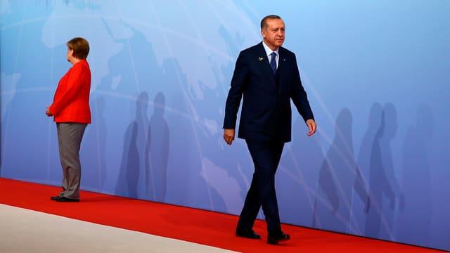 Bundeskanzlerin Angela Merkel und der türkische Präsident Recep Tayyip Erdogan am G20.