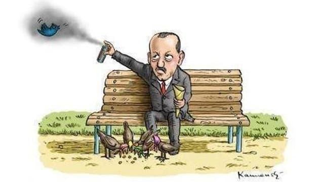 Karrikatur des türkischen Ministerpräsidenten Erdogan.