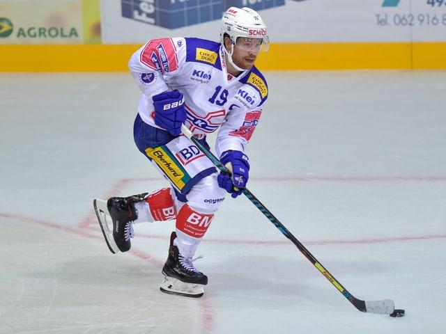 Steve Kellenberger blieb nach dem Abstieg bei Kloten und ist neuer Captain der Unterländer.