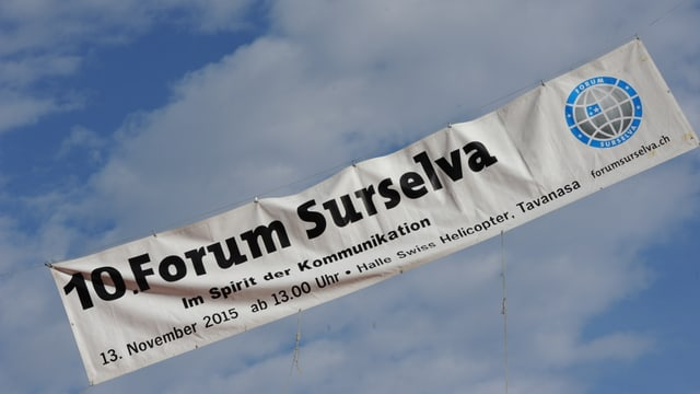 Banderola dal 10. Forum Surselva.