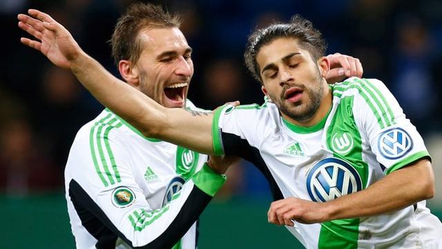 Ricardo Rodriguez erzielte für den VfL Wolfsburg gegen Hoffenheim zwei Treffer.