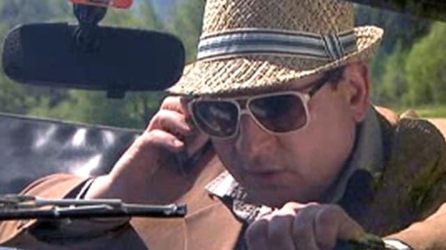 Nahaufnahme Komiker Beat Schlatter in einem «Kassensturz»-Beitrag von 2010