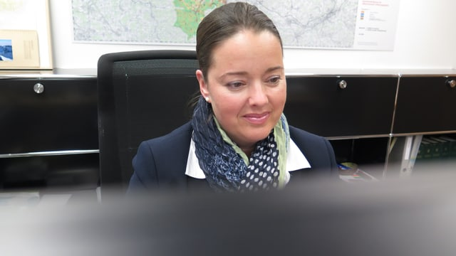 Thurgauer Regierungsrätin Camen Haag in ihrem Büro.