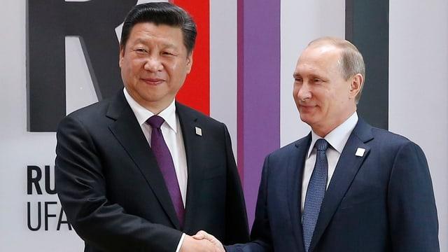Xi Jinping und Wladimir Putin.