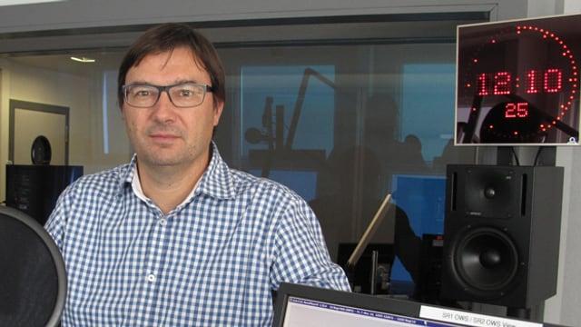 Christof Wicki im Radiostudio.