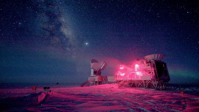 Das Bicep-Teleskop in der Nähe des Südpols.