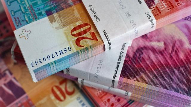 Bancnotas actualas da 20 francs.
