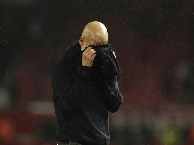 Enttäuschter Pep Guardiola.