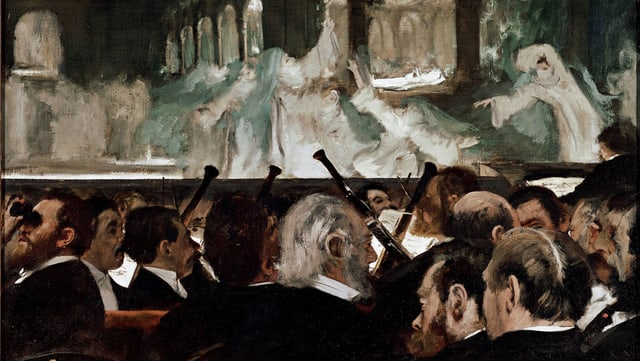 Gemälde: Edgar Degas: Le Ballet de « Robert le Diable » (1876).