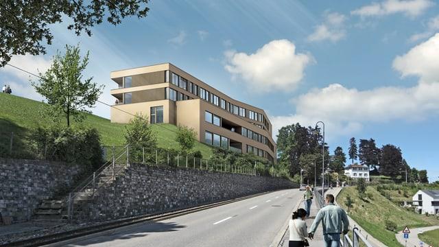Modell der Berit-Klinik an der Strasse zur Vögelinsegg.