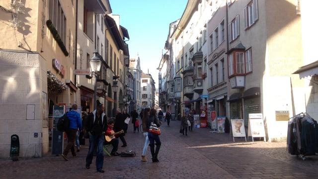 Blick in die Altstadt von Schaffhausen.