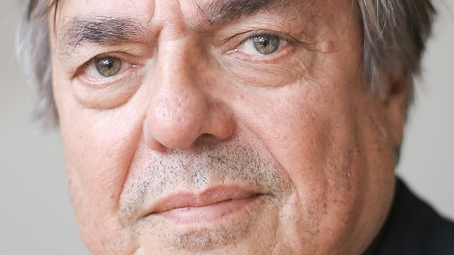 Ein Porträt des Autors Drago Jančar, geboren 1948 in Maribor.