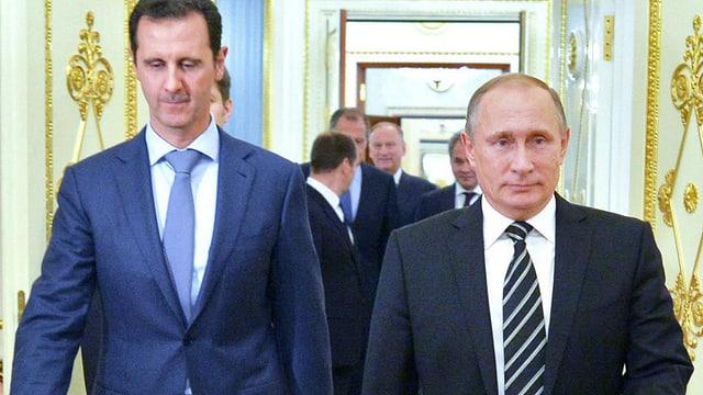 Baschar Assad und Wladimir Putin, Aufnahme von Oktober 2015.