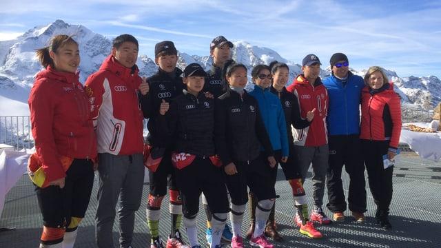 atletas ed atlets chinais en Engiadina