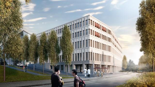 Visualisierung Gebäude.