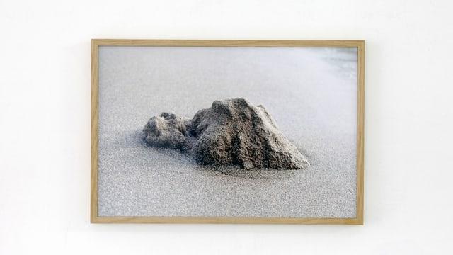 Ein Sandhäufchen fotografiert von Judith Leupi.