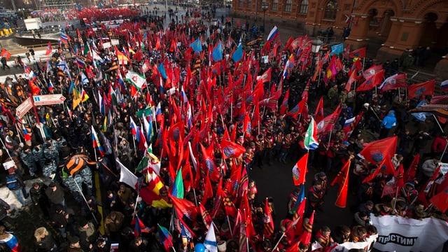 Vista sin demonstrants a Moscau.