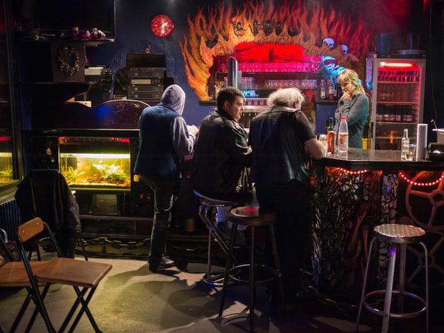 Legendäres «Dead End»: Die Berner Bar hat bis sechs Uhr in der Früh offen.