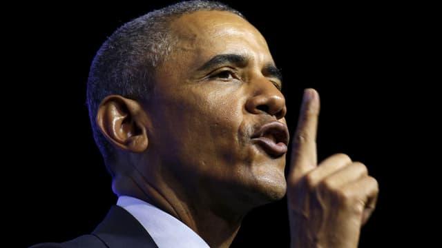 US-Präsident Barack Obama erhebt mahnend den Zeigefinger.