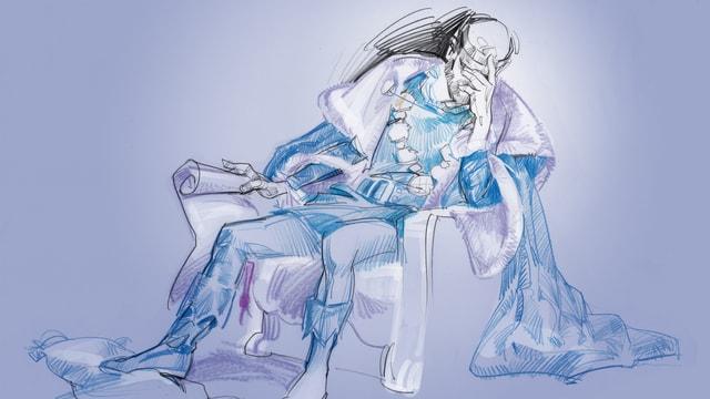 Illustration eines Königs.