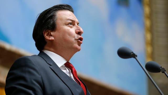 SP-Vertreter Corrado Pardini im Nationalrat.