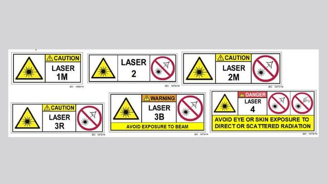 Logos der verbotenen Lasperpointer