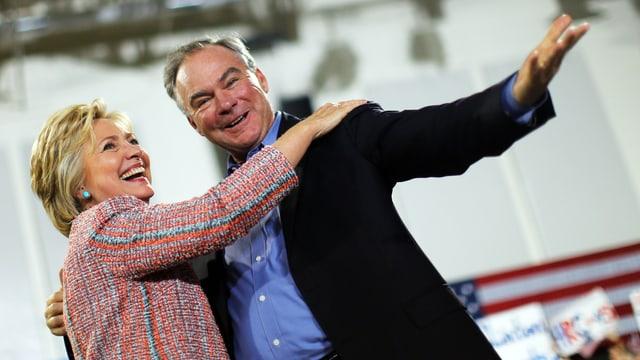 Hillary Clinton und Tim Kaine