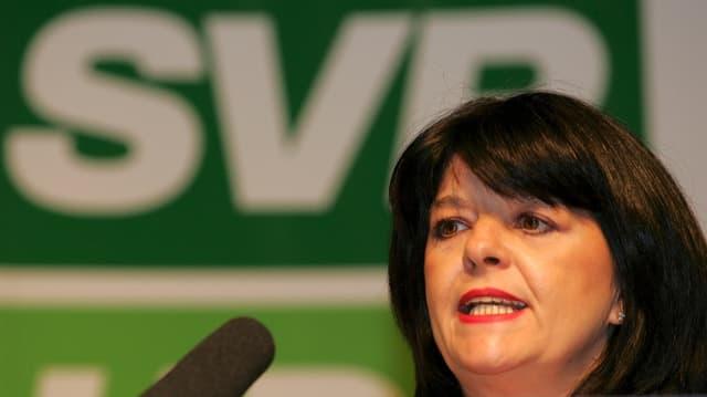 Angelika Zanolari war bis 2005 Präsidentin der Basler SVP.