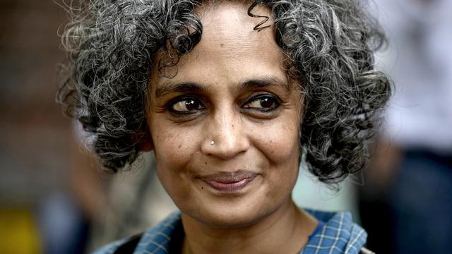 Die indische Schriftstellerin Arundhati Roy.