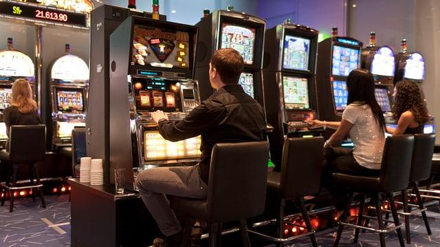 Spieler im Casino Baden
