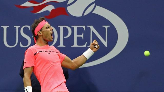 Rafael Nadal schreit seine Freude heraus