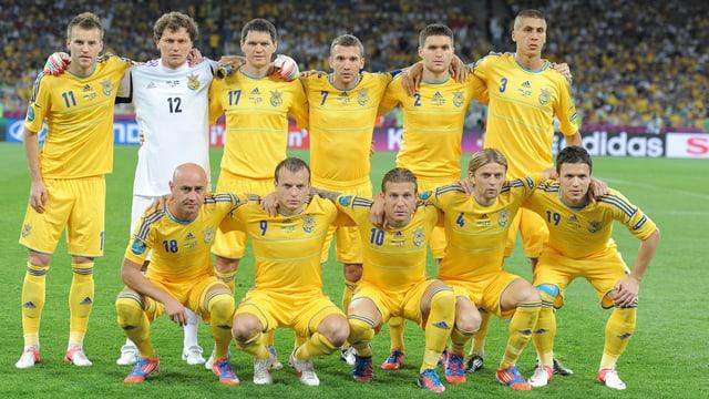 Die ukrainische Nationalmannschaft strebt die Qualifikation für die WM 2014 an.