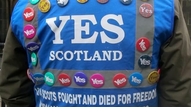 Anhänger der Autonomiebewegung in Schottland.
