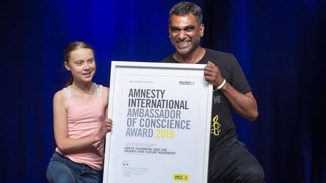 Thunberg und Naidoo mit der Auszeichnung