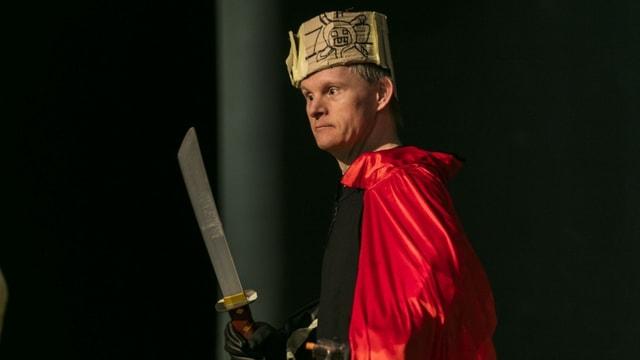 Der HORA-Schauspieler Matthias Grandjean im Stück «Die Räuber».