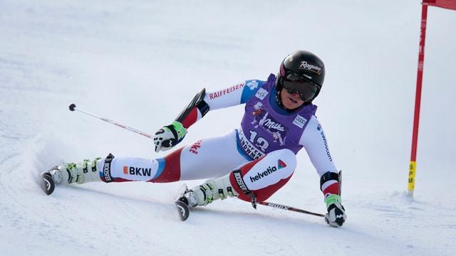 Lara Gut durant il slalom gigant ad Aspen.