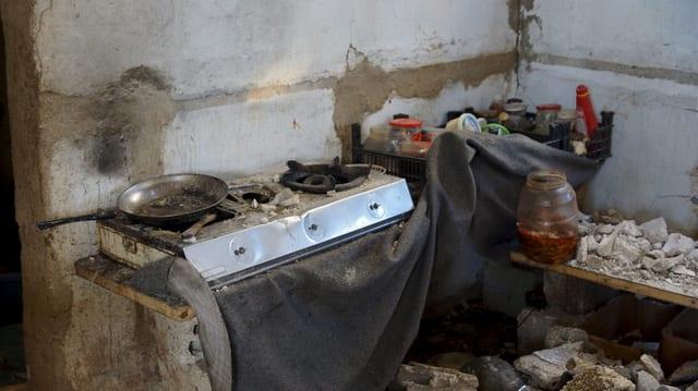 Cuschina demolida en ina chasada a Madaja